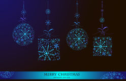 Christmas doodles.Vector illustration. Happy New Year 2014 and Merry Christmas lettering for Xmas design,snowflakes Royalty Free Stock Photography