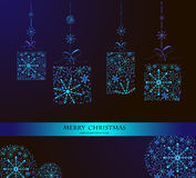 Christmas doodles.Vector illustration. Happy New Year 2014 and Merry Christmas lettering for Xmas design,snowflakes Stock Images