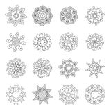 Christmas doodles with winter Snowflakes Stock Photo