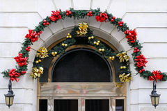 Christmas door decor Royalty Free Stock Images