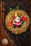 Christmas door decoration Royalty Free Stock Photo