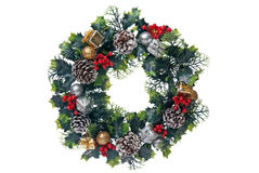 Christmas door garland Royalty Free Stock Photo