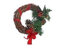 Christmas door garland Royalty Free Stock Photos