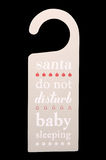 Christmas door hanger baby sleeping Stock Photography