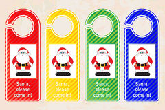 Christmas door hangers Stock Photos