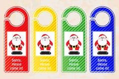 Christmas door hangers stock illustration