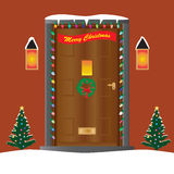 Christmas Door Royalty Free Stock Photography