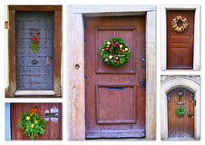 Christmas doors Stock Images