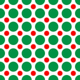 Christmas Dots. A background pattern of polka dots in Christmas colors Stock Photo