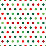 Christmas Dots. A background pattern of polka dots in Christmas colors Royalty Free Stock Photos