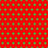 Christmas Dots. A background pattern of polka dots in Christmas colors Stock Image