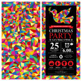 Christmas Dove Invitation Card Royalty Free Stock Photography