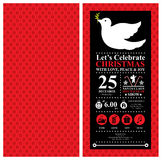 Christmas dove Invitation Card Stock Images
