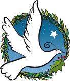 Christmas dove of peace stock photo