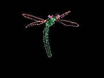 christmas dragonfly lights Στοκ φωτογραφία με δικαίωμα ελεύθερης χρήσης