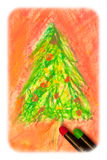 Christmas drawing Stock Image
