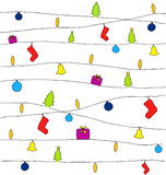 Christmas drawing background Royalty Free Stock Photos