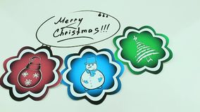 Christmas drawings and congratulation stock video