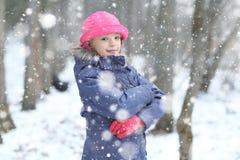 Christmas dream of  girl Stock Image
