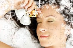 Christmas dream puzzle Stock Images