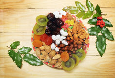 Christmas dried fruit Stock Photos