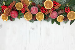 Christmas Dried Fruit Border Royalty Free Stock Photo