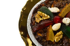 Christmas dried fruit and nut dessert, dish of Emilia Romagna Stock Image