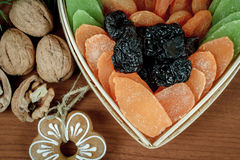 Christmas Dried Fruit and Nuts Royalty Free Stock Photography