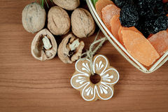 Christmas Dried Fruit and Nuts Royalty Free Stock Photo