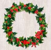 Christmas driftwood wreath Royalty Free Stock Photography