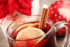 Christmas drink detail Royalty Free Stock Photography