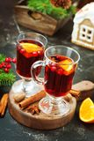 Christmas drink. With fruits and aroma spice Royalty Free Stock Images