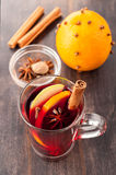 Christmas drink (mulled wine) Stock Images