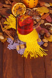 Christmas drink mulled wine with spices Royalty Free Stock Photography