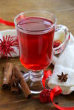 Christmas drink (mulled wine, tea) Stock Images