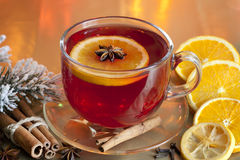 Christmas drink punch and spices Royalty Free Stock Photography