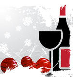 Christmas drink vector Royalty Free Stock Image