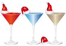 Christmas drinks. On a white background Royalty Free Stock Images
