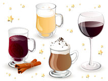 Christmas Drinks Stock Photography