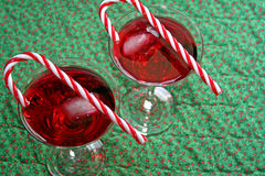 Christmas drinks with canes royalty free stock image