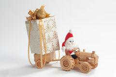 Christmas driver Royalty Free Stock Images
