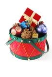 Christmas drum Stock Photos