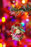 Christmas Drum Decorated On A Branch Stock Photography