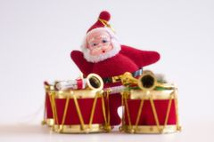 Christmas Drum & Santa Clause Stock Image