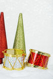 Christmas drums Royalty Free Stock Images