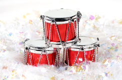Christmas Drums Royalty Free Stock Photo