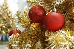 Christmas drzewodekoracja, nowego roku świętowanie obraz stock