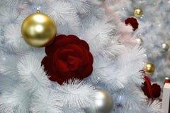 Christmas drzewodekoracja, nowego roku świętowanie fotografia stock