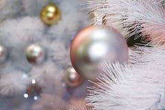 Christmas drzewodekoracja, nowego roku świętowanie zdjęcie royalty free