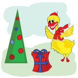 Christmas duck Stock Images